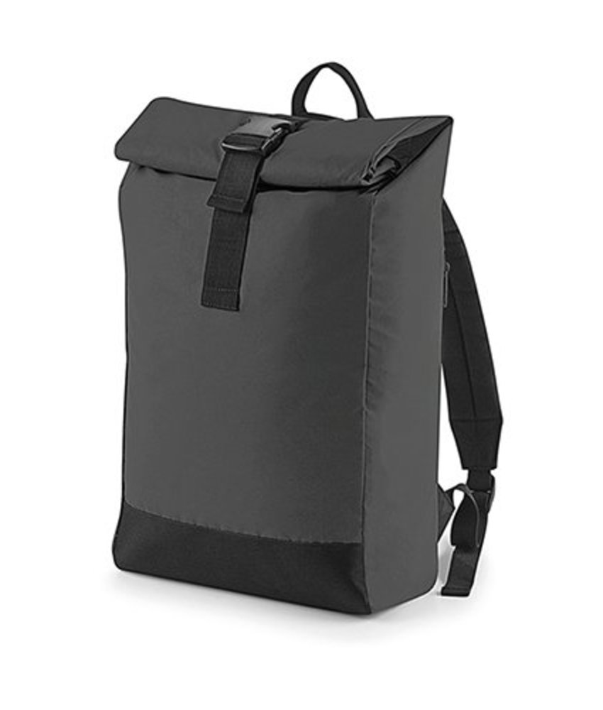 Bag Base Reflective Roll-Top Backpack