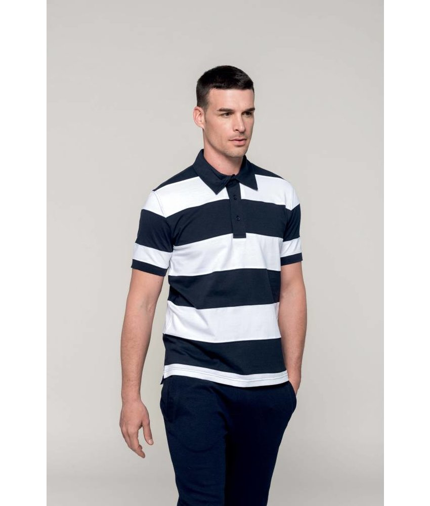 Kariban Ray - Sewn Stripe Short Sleeve Polo