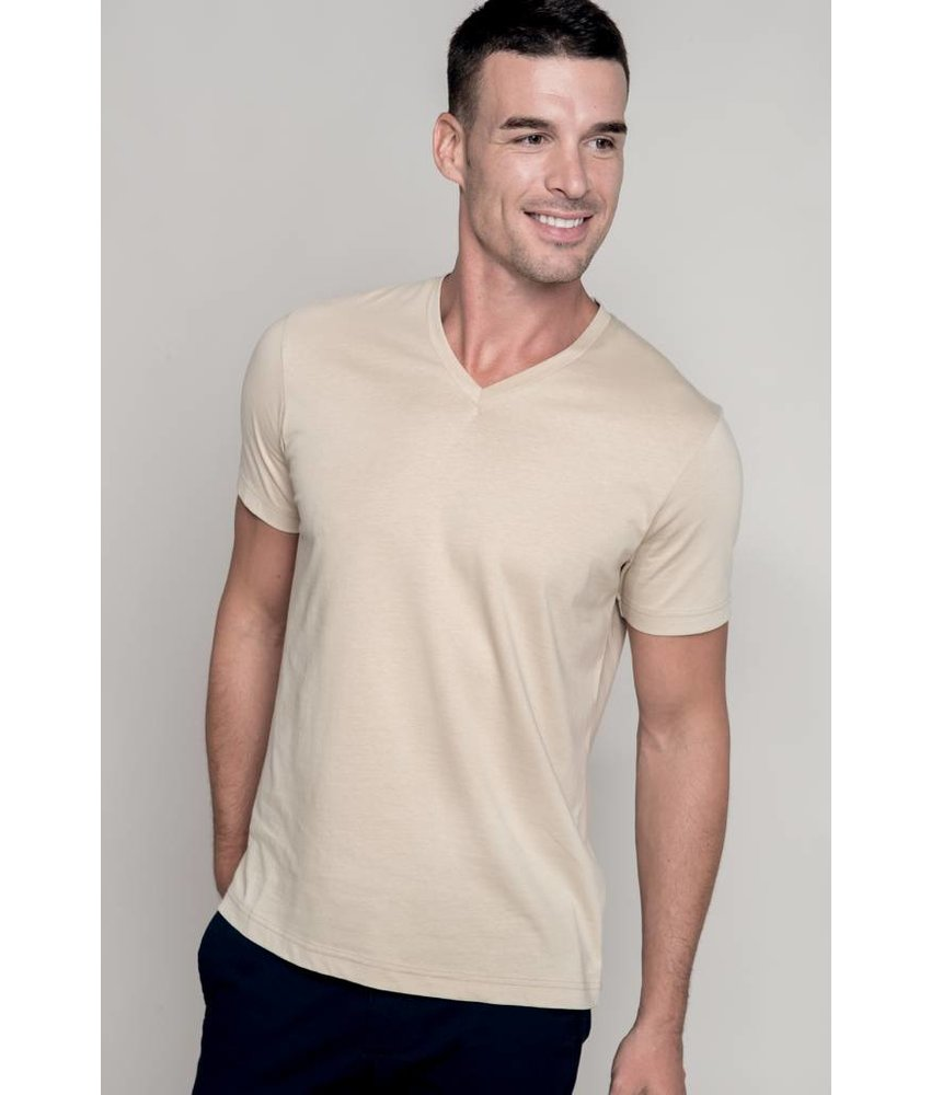 Kariban Men's Short Sleeve V-neck T-shirt