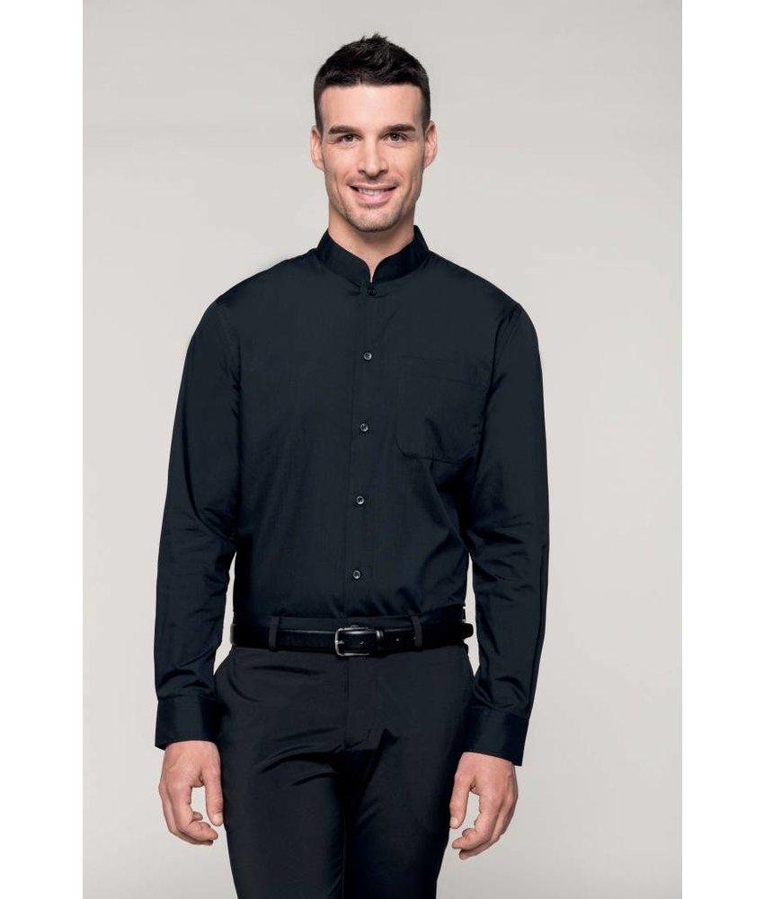 Kariban Men's Long Sleeve Mandarin Collar Blouse