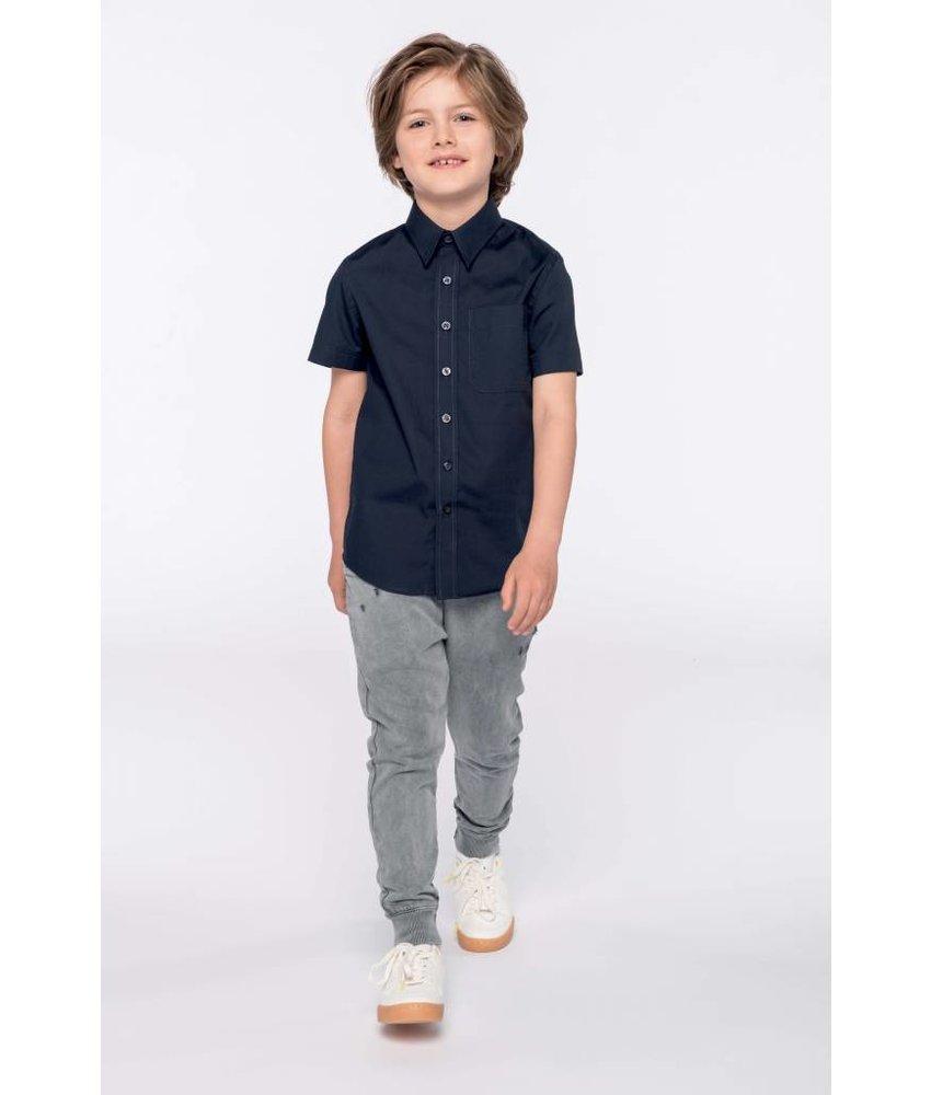 Kariban Kid's Short Sleeve Poplin Blouse