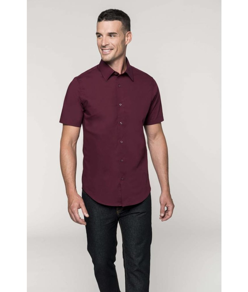 Kariban Men's Short Sleeve Stretch Blouse