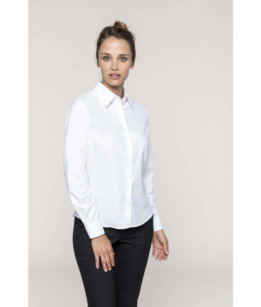 Kariban Dames oxford blouse lange mouwen