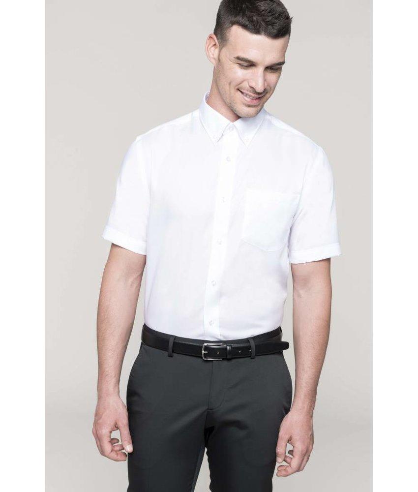 Kariban Heren non-iron overhemd korte mouwen