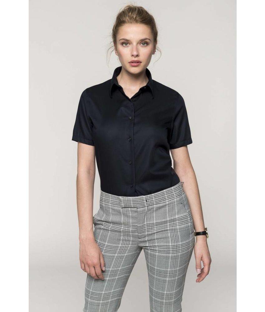 Kariban Dames non-iron blouse korte mouwen