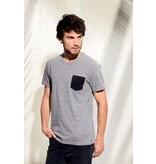 Kariban T-shirt BIO-katoen met borstzakje