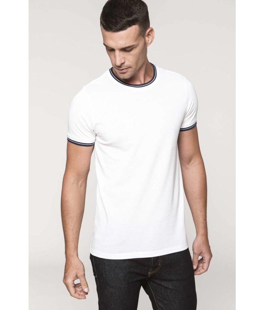 Kariban Heren-t-shirt piqué ronde hals
