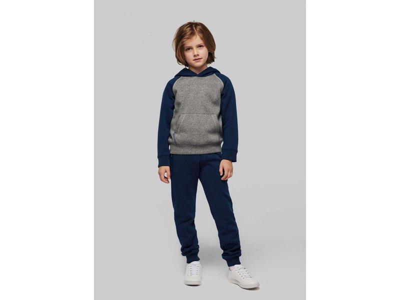 Proact Tweekleurige sweater met capuchon kids