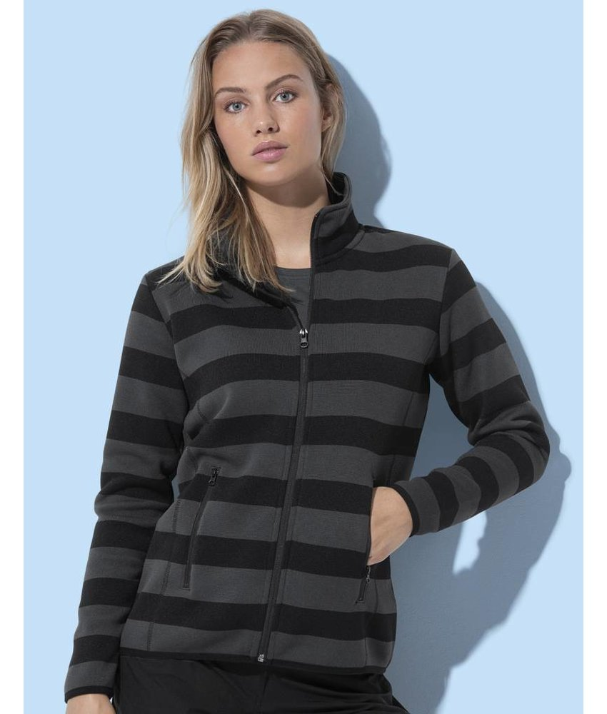 Active by Stedman Active Striped Fleece Jacket Women