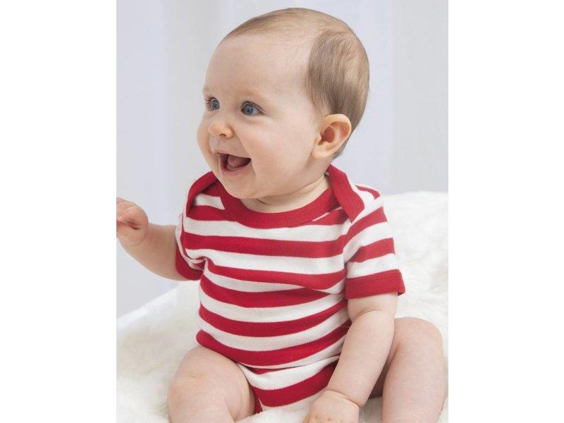 Babybugz Baby Striped Short Sleeve Bodysuit