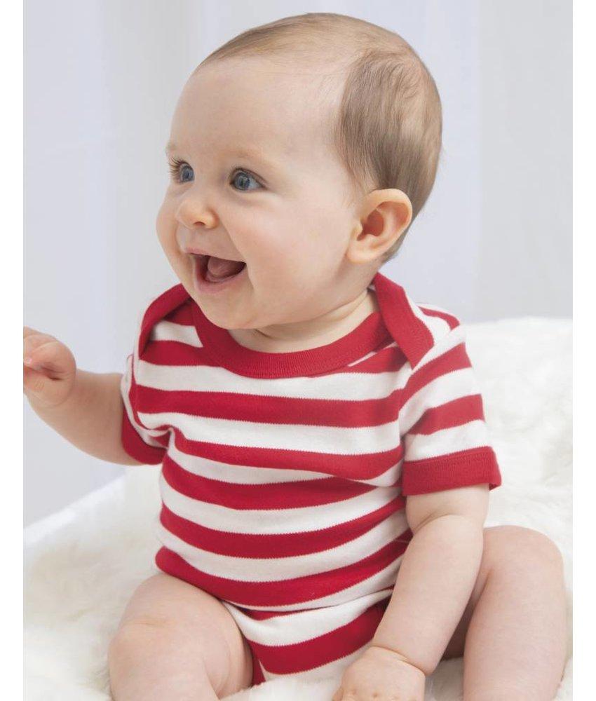 Babybugz   045.47   BZ10S   Baby Striped Short Sleeve Bodysuit