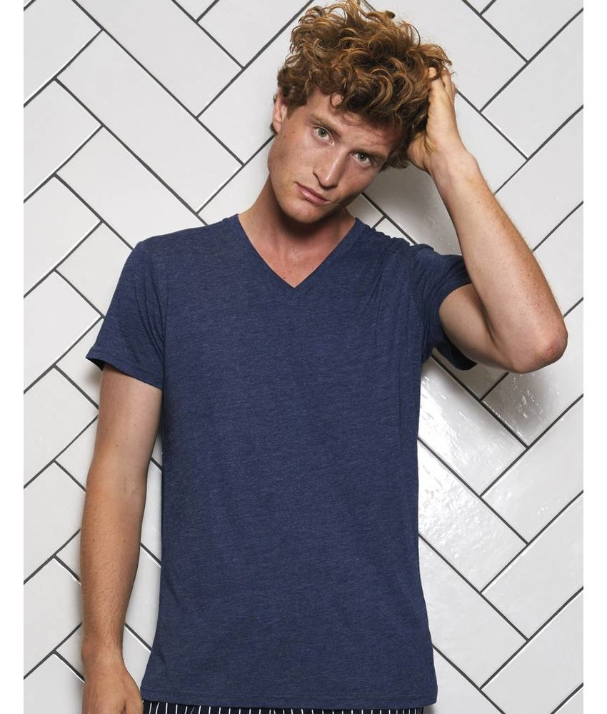 B&C Triblend V-Neck T-Shirt