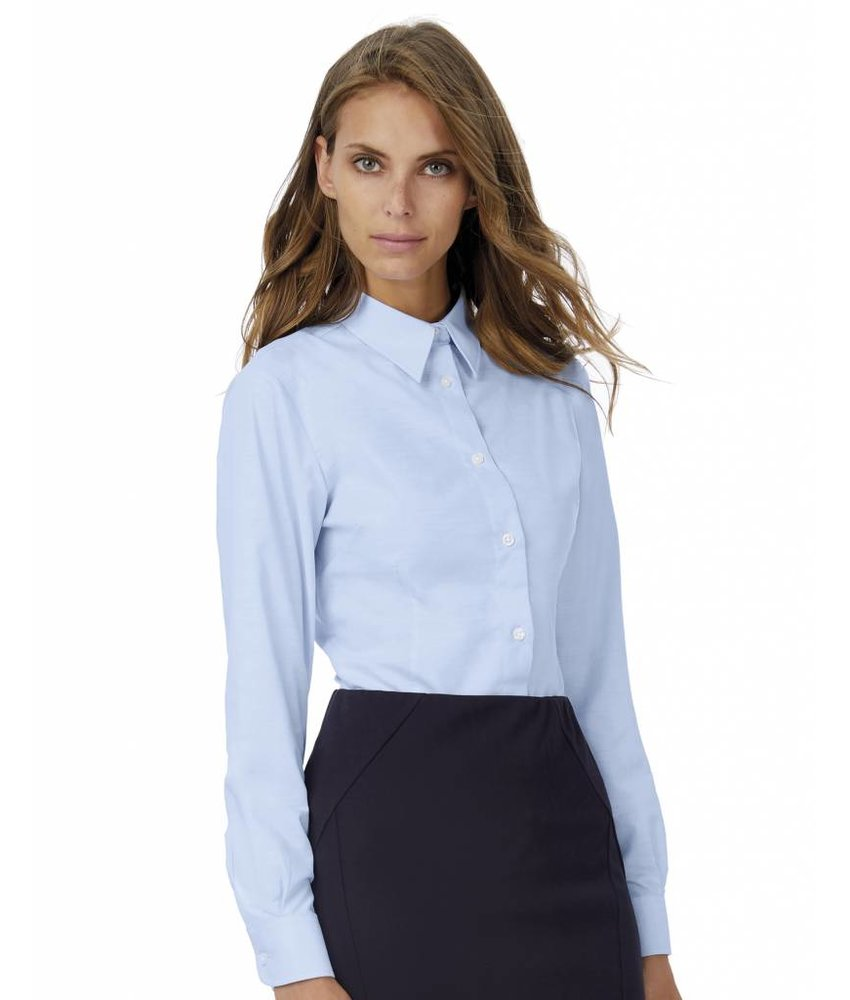 B&C Ladies' Oxford Long Sleeve Blouse