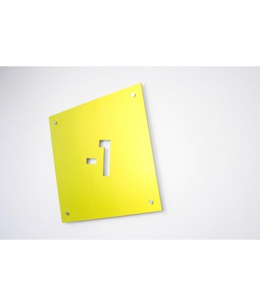 Kwestievanlef Aluminium bord (Dibond Budget) Groot (Enkelzijdig)