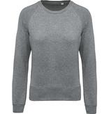 Kariban Dames Sweater BIO ronde hals raglanmouwen