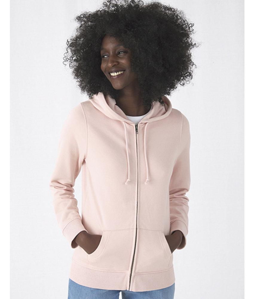 B&C Organic Zipped Hooded women