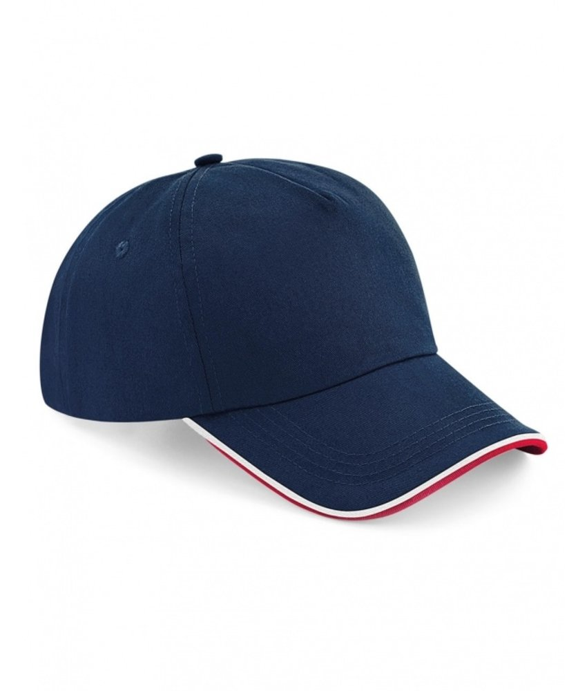 Beechfield | B25c | 928.69 | B25c | Authentic 5 Panel Cap - Piped Peak