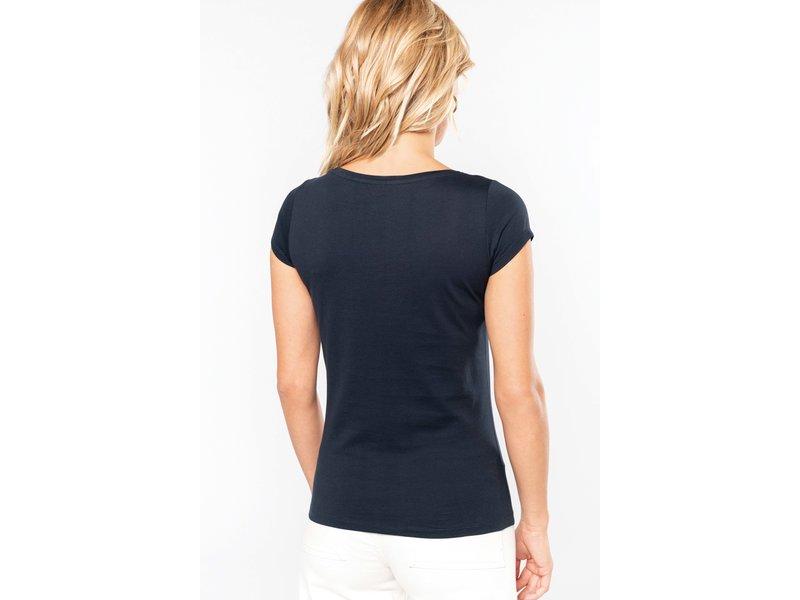 Kariban Dames T-Shirt korte mouwen met boothals