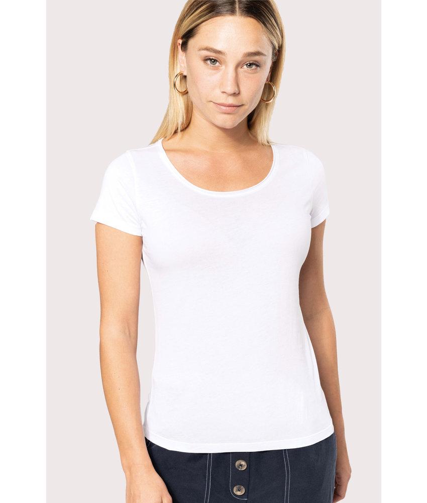 Kariban | K399 | Ladies' short-sleeved organic t-shirt with raw edge neckline