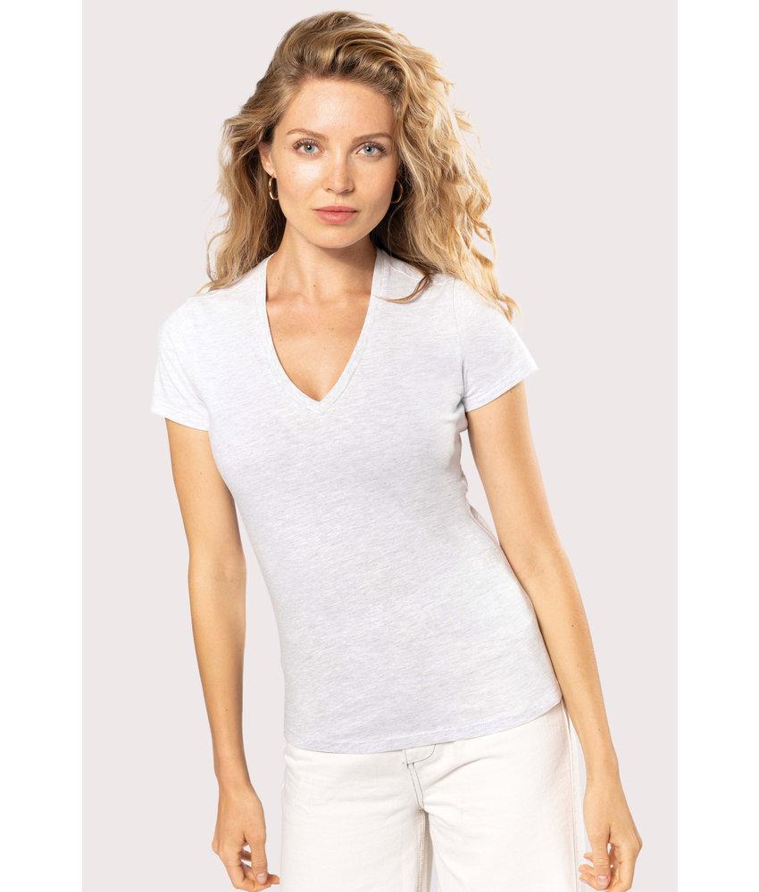 Kariban Dames-t-shirt BIO150 V-hals
