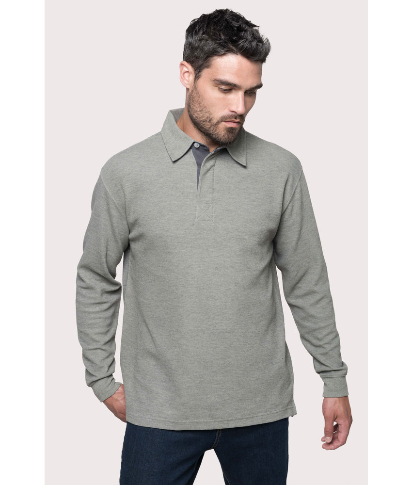 Kariban | K221 | FRENCH RIB - LONG-SLEEVED RIBBED POLO SHIRT
