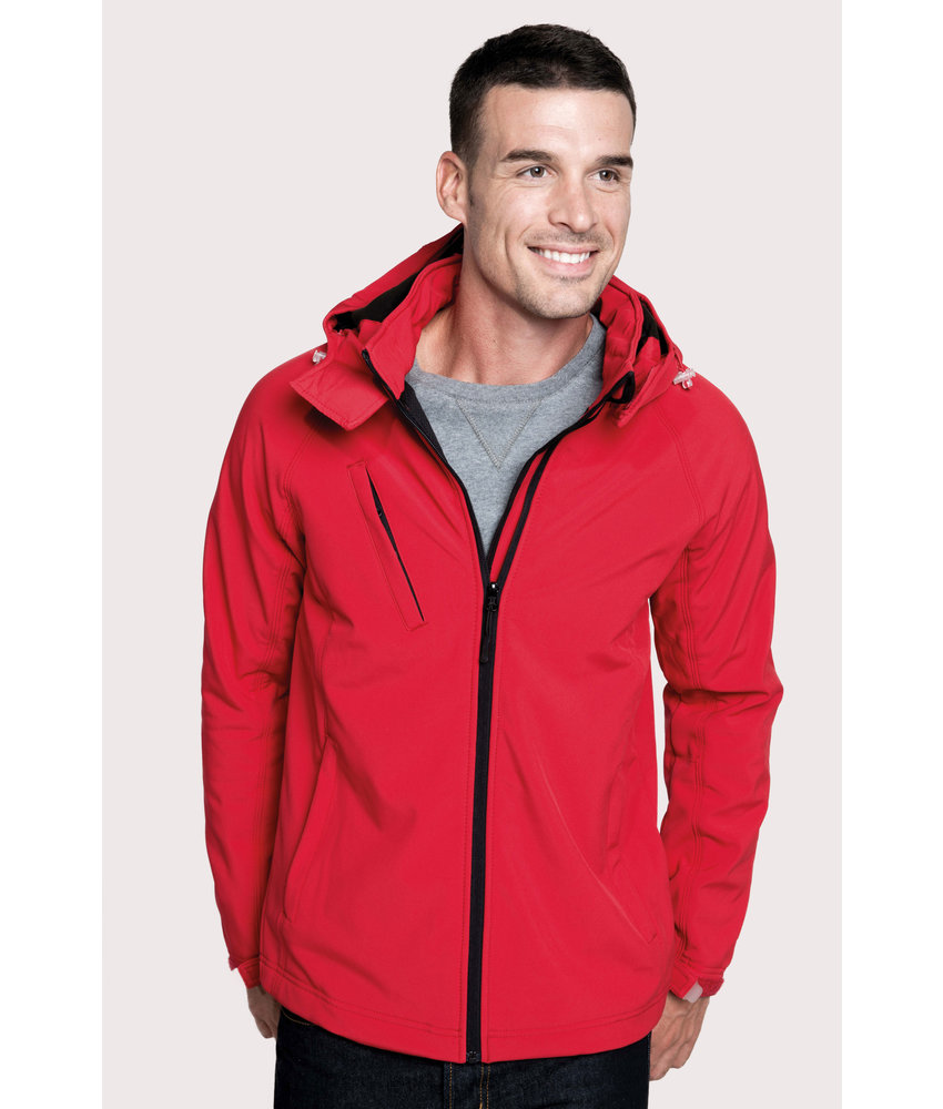 Kariban Heren Afneembare hooded softshell jas