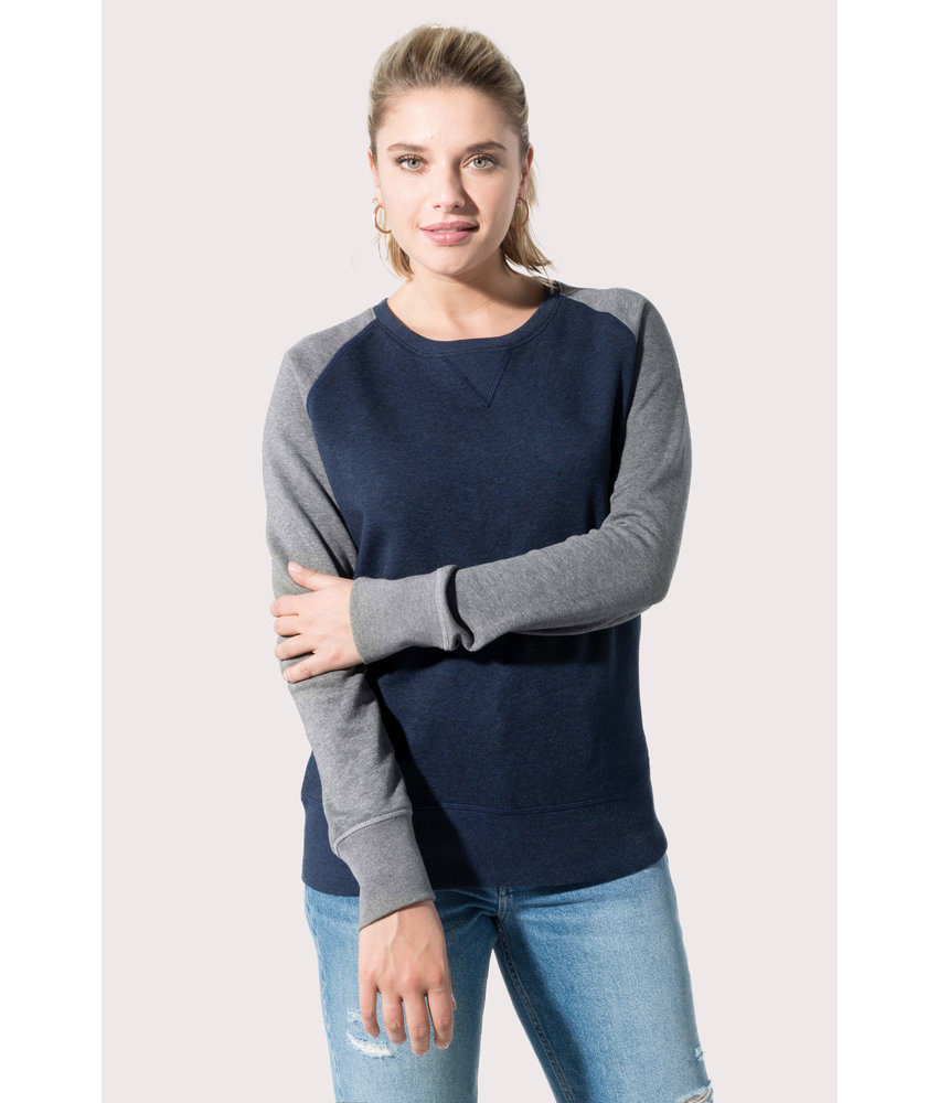 Kariban | K492 | Ladies' two-tone organic crew neck raglan sleeve sweatshirt