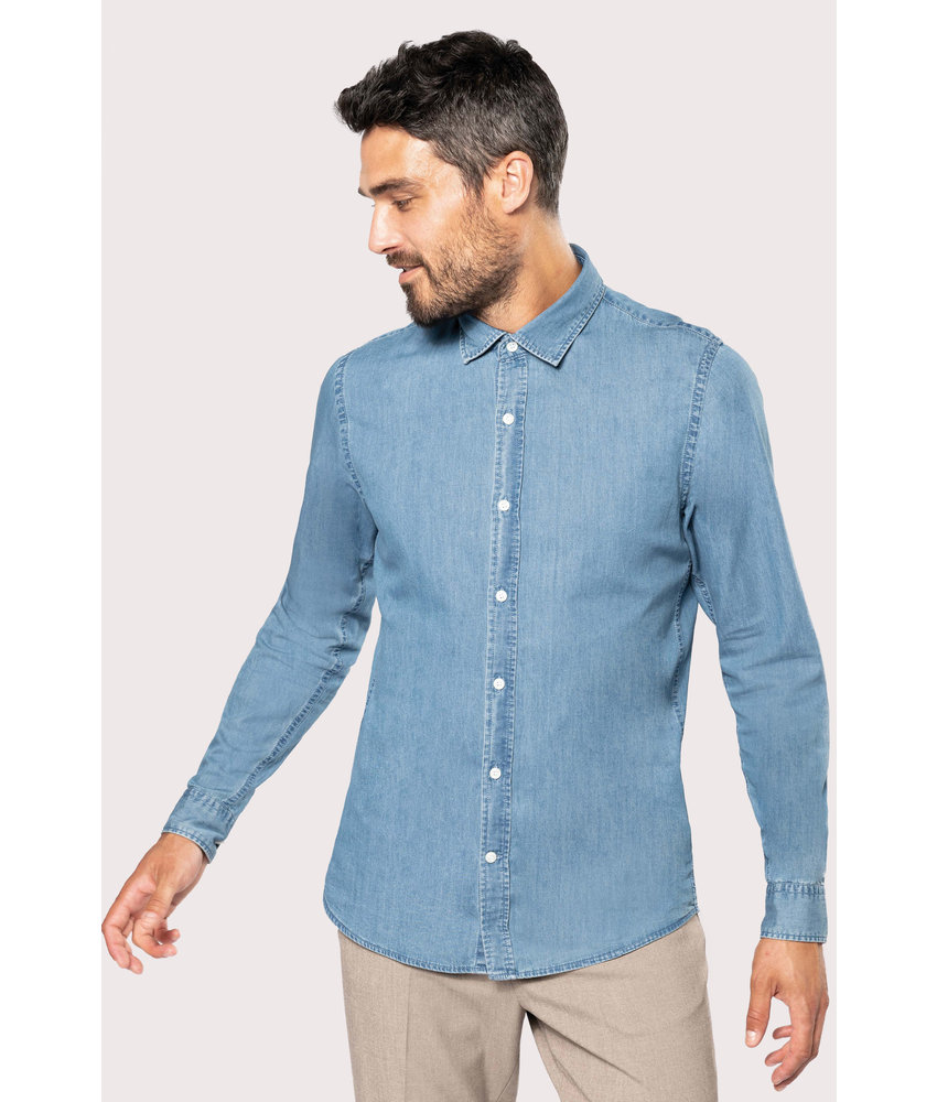 Kariban | K512 | Men's denim shirt
