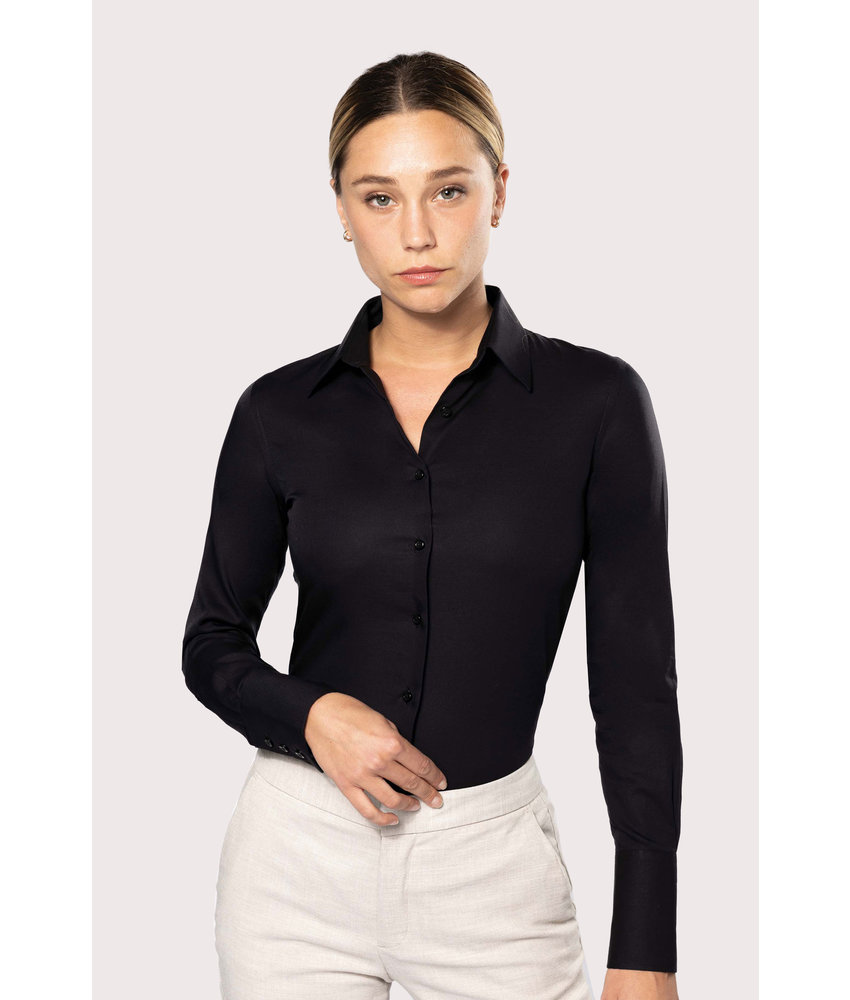 Kariban Dames non-iron blouse lange mouwen