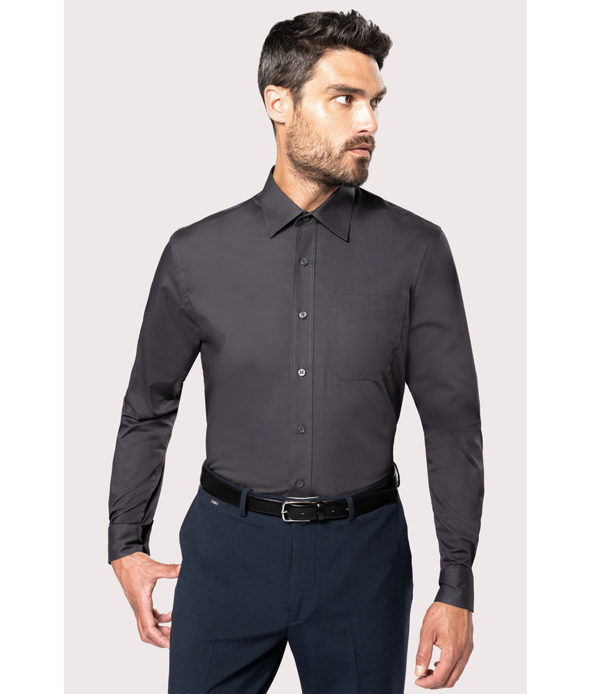 Kariban | K541 | Men's long-sleeved cotton poplin shirt
