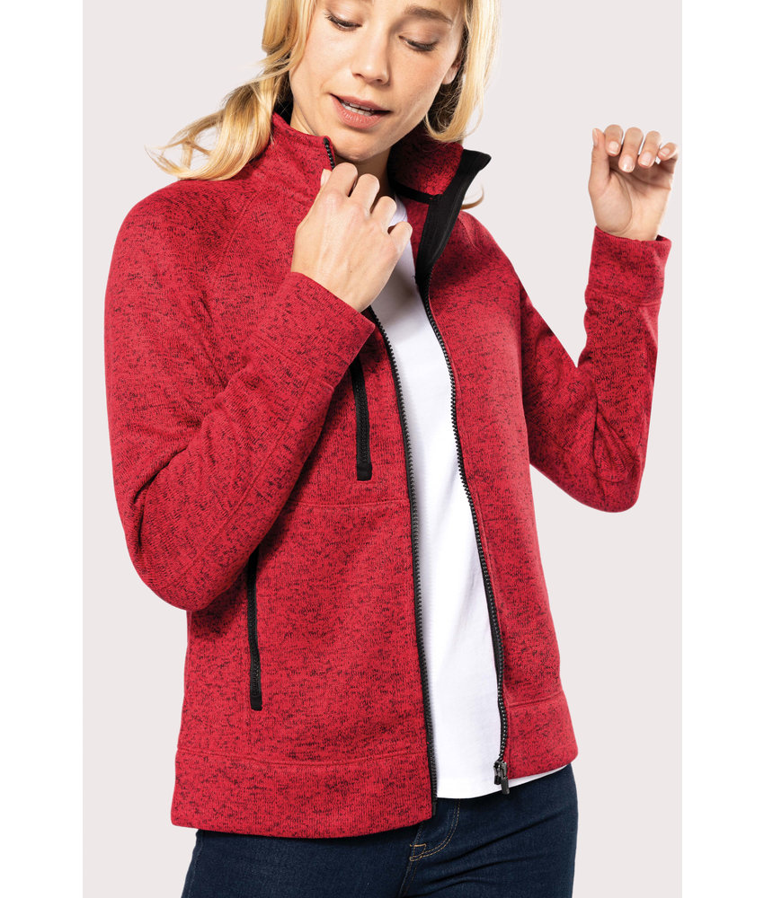 Kariban | K9107 | Ladies' full zip heather jacket