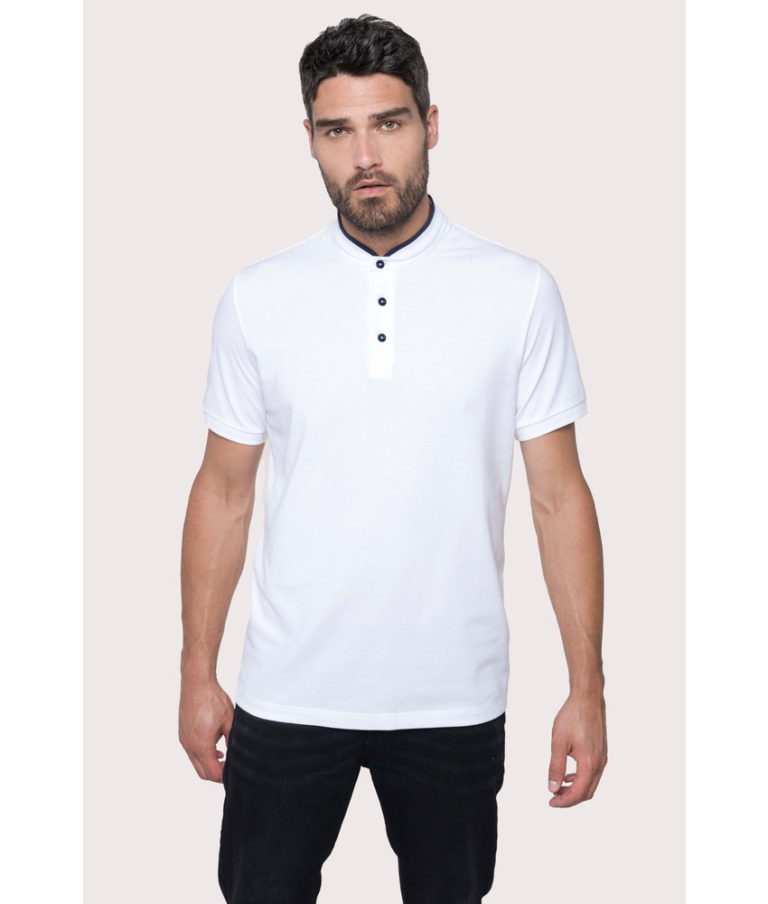 Kariban | K223 | Men's short-sleeved polo shirt with Mandarin collar