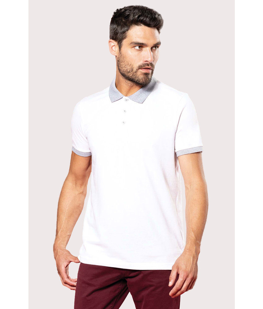 Kariban | K258 | Men's two-tone piqué polo shirt