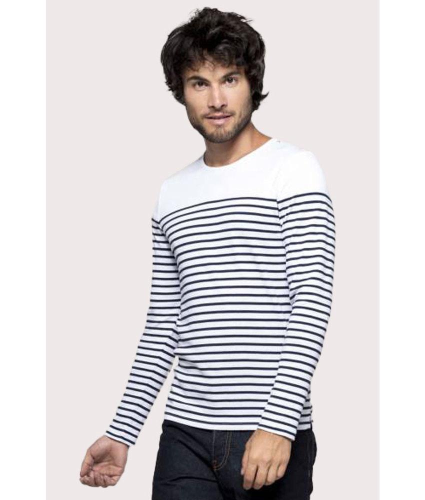 Kariban | K366 | Men's long-sleeved Breton stripe top