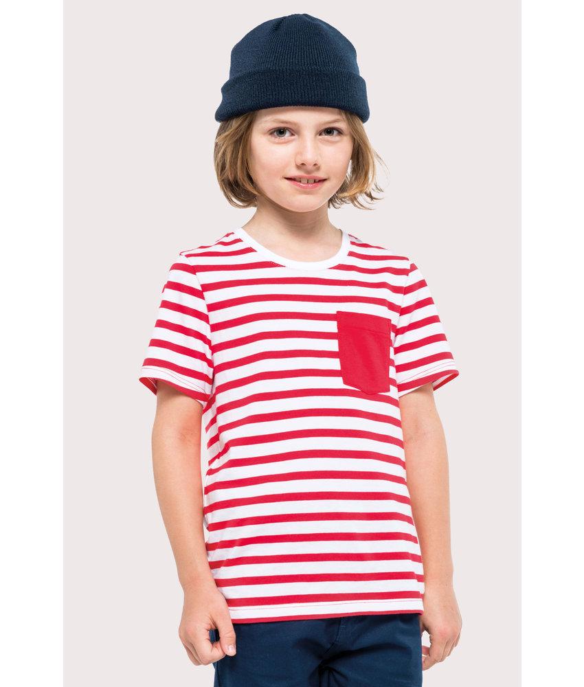 Kariban | K379 | Kids' striped short sleeve sailor t-shirt with pocket