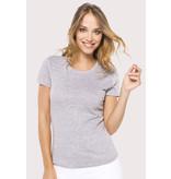 Kariban Dames T-Shirt ronde hals korte mouwen
