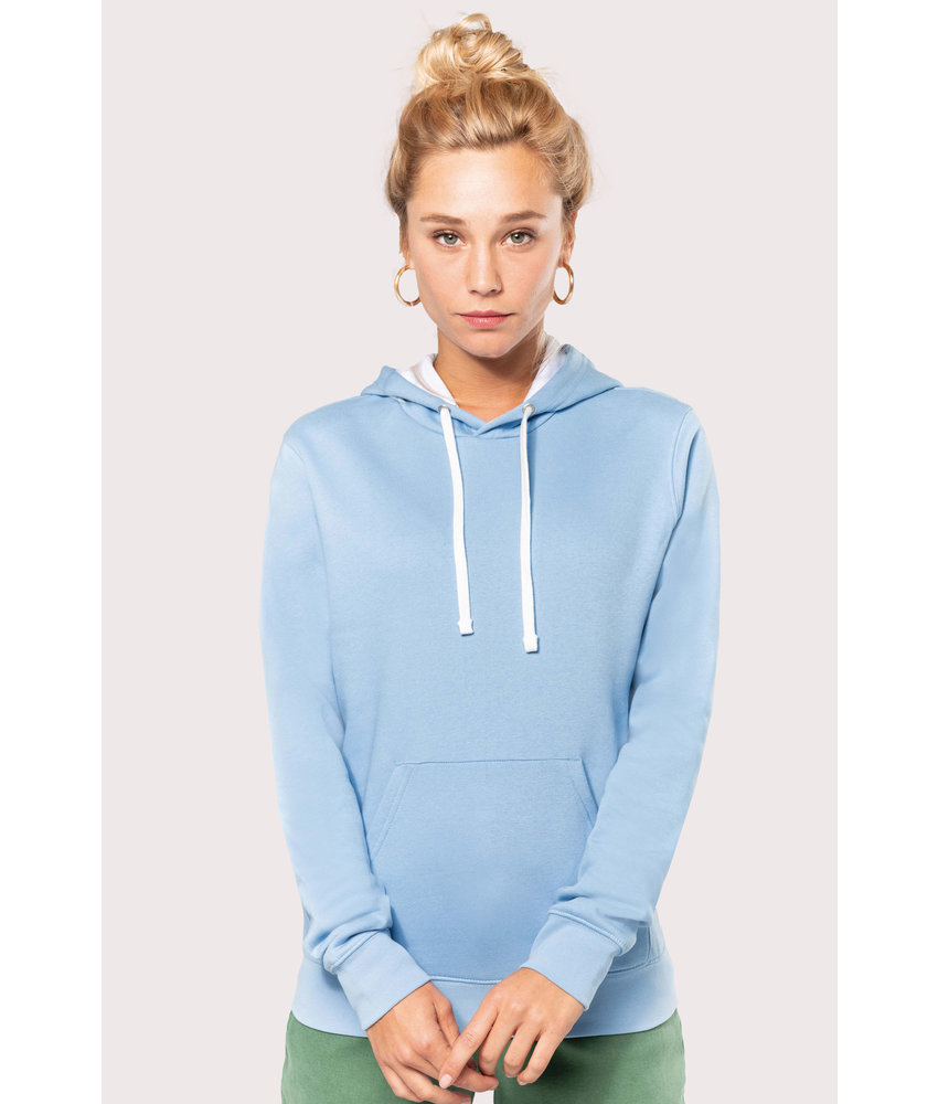 Kariban | K465 | Ladies' contrast hooded sweatshirt