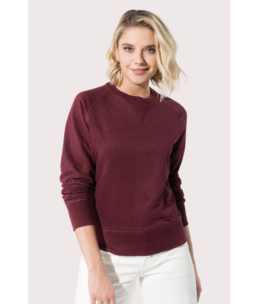 Kariban | K481 | Ladies' organic cotton crew neck raglan sleeve sweatshirt