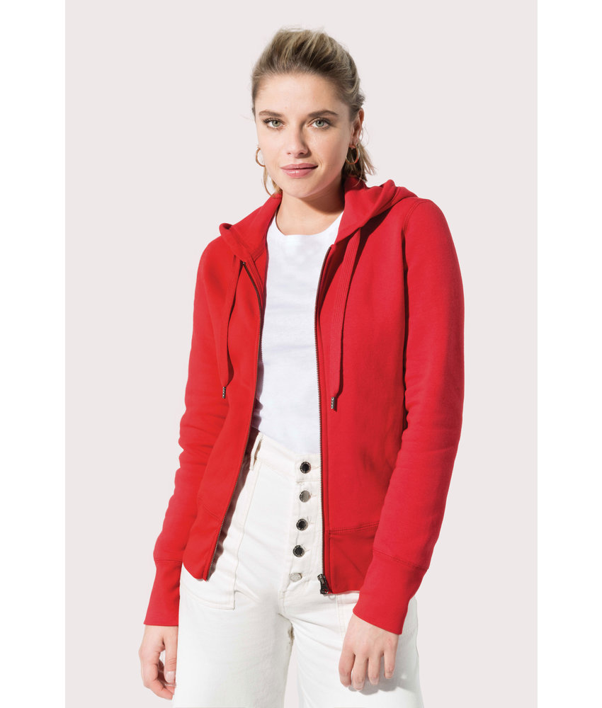 Kariban | K485 | Ladies' organic full zip hooded sweatshirt