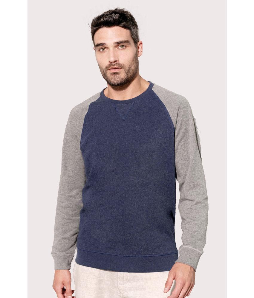 Kariban | K491 | Men's two-tone organic crew neck raglan sleeve sweatshirt