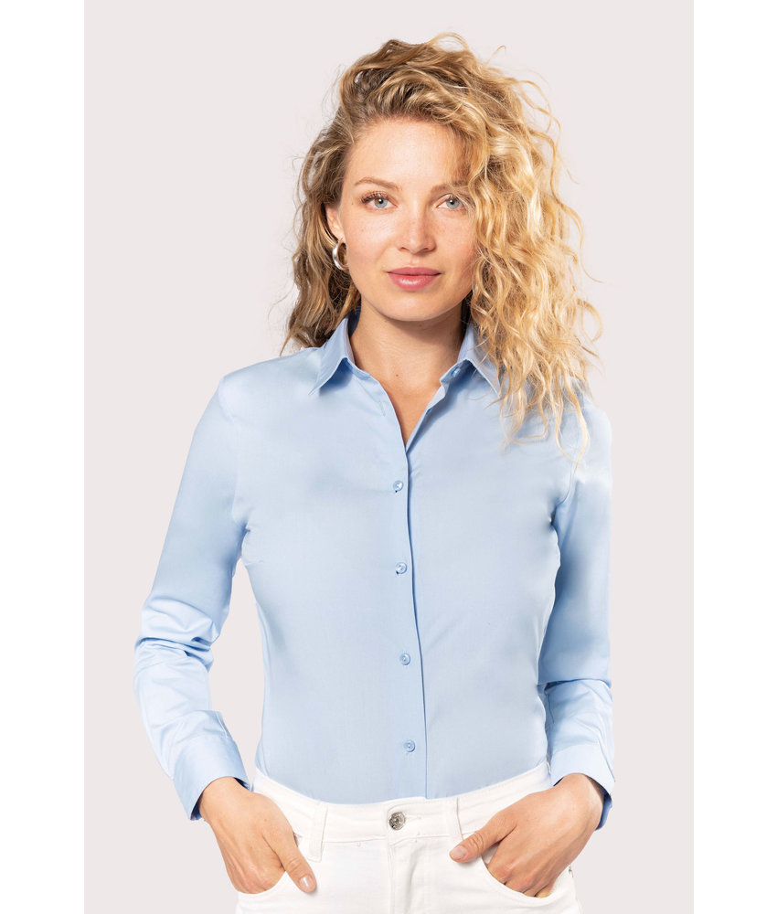 Kariban | K510 | Ladies' long-sleeved cotton poplin shirt