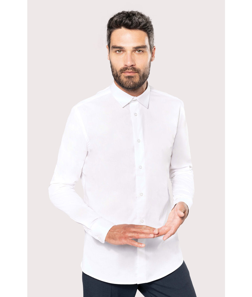 Kariban | K513 | Men's long-sleeved cotton poplin shirt