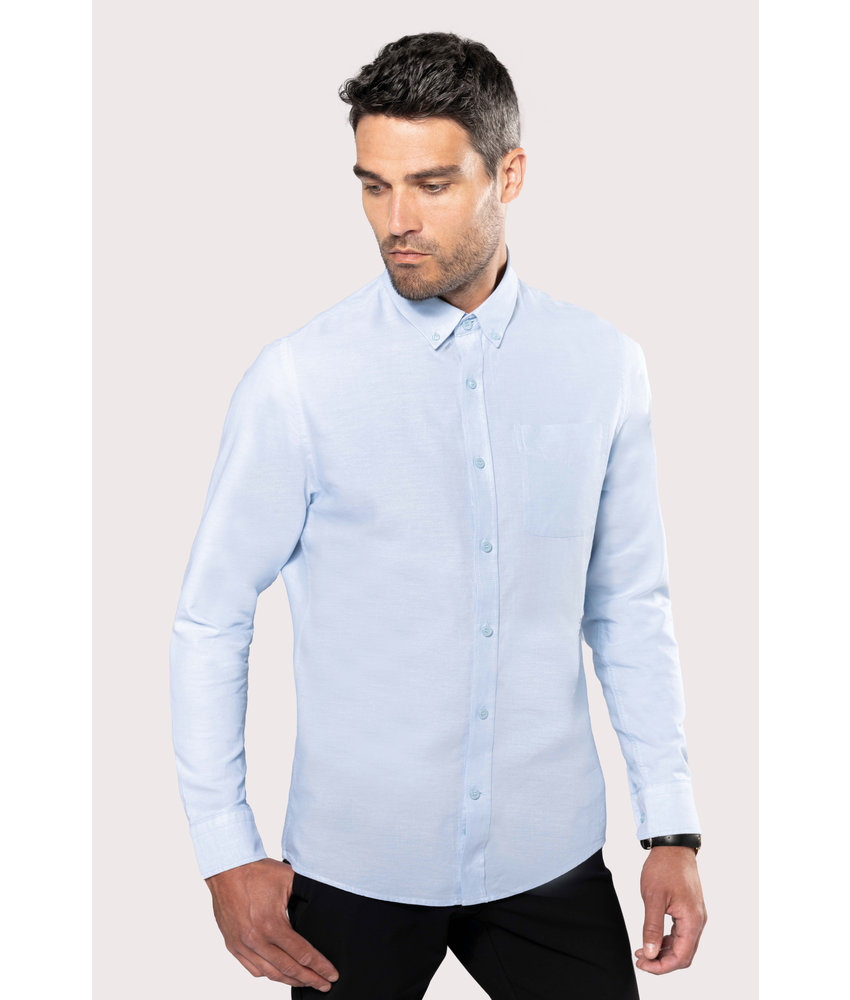 Kariban | K516 | Long-sleeved washed Oxford cotton shirt