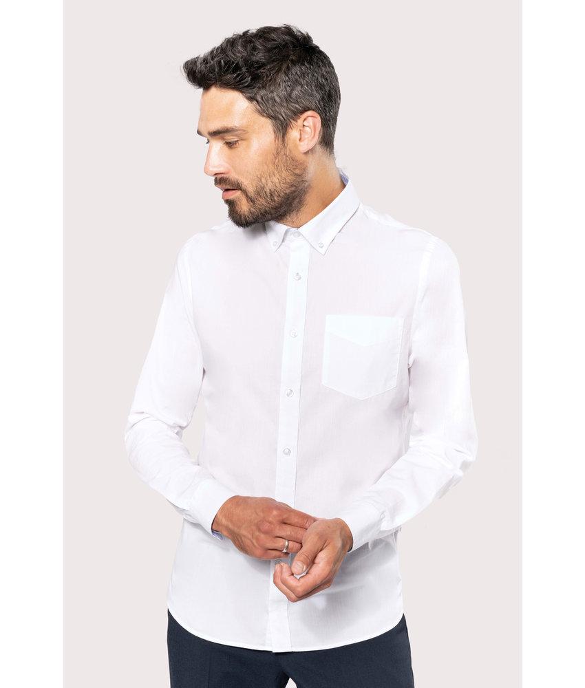 Kariban | K517 | Long-sleeved washed cotton poplin shirt