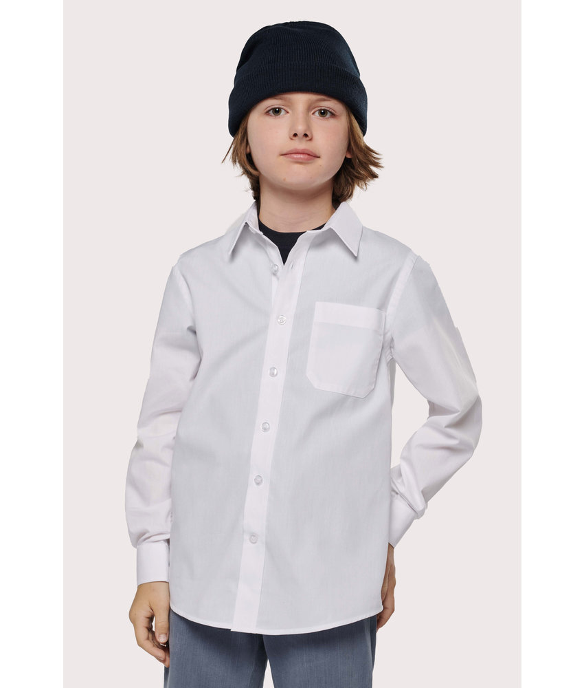 Kariban | K521 | Kid's LONG-SLEEVED Poplin Shirt