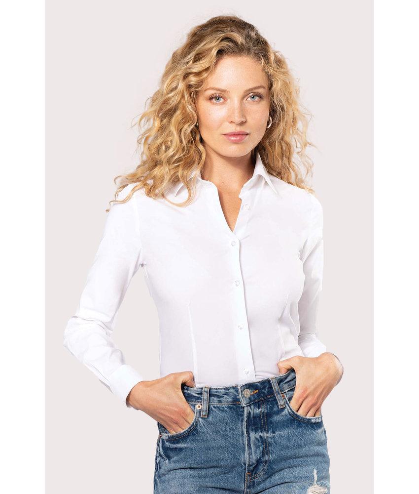 Kariban | K530 | Ladies' long-sleeved stretch shirt