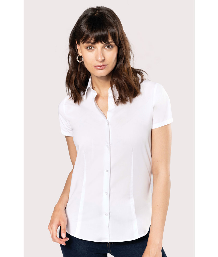 Kariban | K532 | Ladies' short-sleeved cotton/elastane shirt
