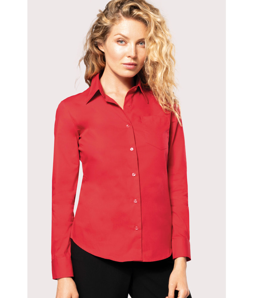 Kariban | K542 | Ladies' long-sleeved cotton poplin shirt