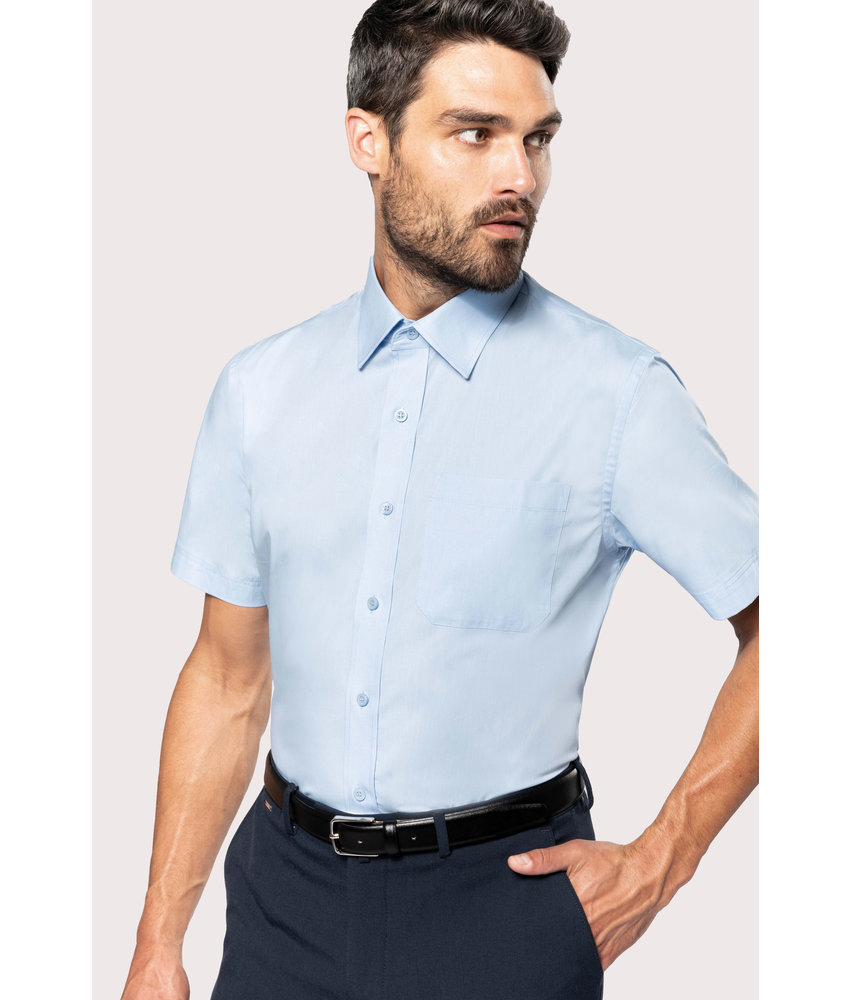 Kariban | K543 | Men's short-sleeved cotton poplin shirt