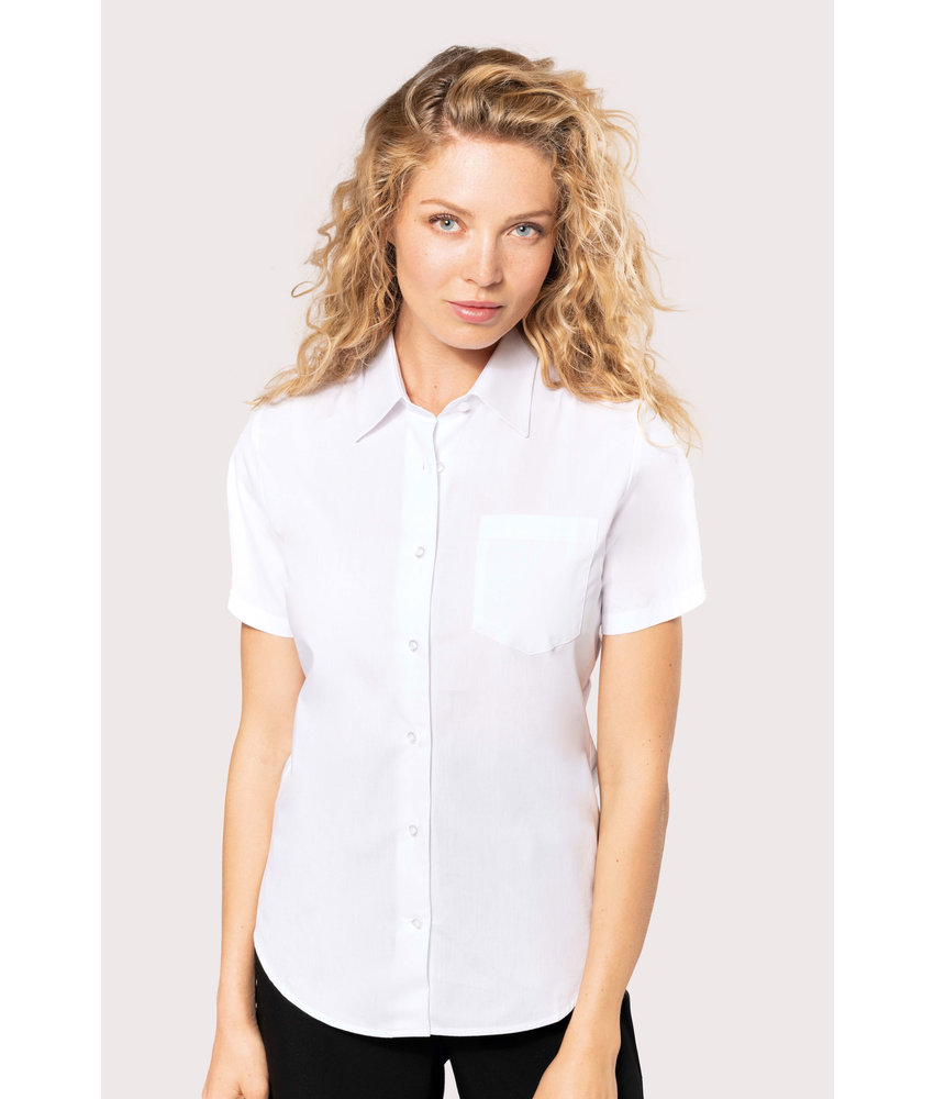 Kariban | K544 | Ladies' short-sleeved cotton poplin shirt